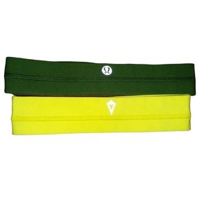 Lululemon/ivivva head bands. Green and yellow
